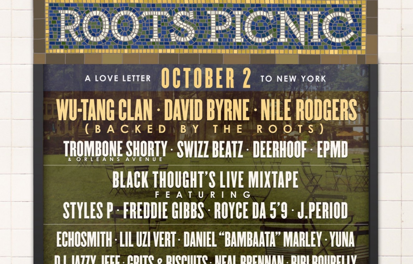 ROOTS PICNIC IS COMING TO NYC!!